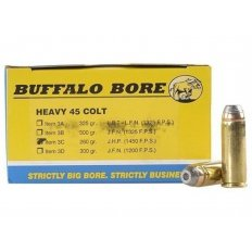 Buffalo Bore .45 Long Colt +P 260 Gr. Jacketed Hollow Point- Box of 20