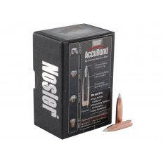 Nosler Bullets .264 Caliber/ 6.5mm (.264 Diameter) 130 Gr. AccuBond Bonded Spitzer Boat Tail- Box of 50