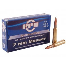 Prvi Partizan 7mm Mauser (7x57mm) 139 Gr. Soft Point- Box of 20