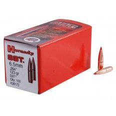 Hornady Bullets 6.5mm (.264 Diameter) 123 Gr. InterLock SST Boat Tail- Box of 100