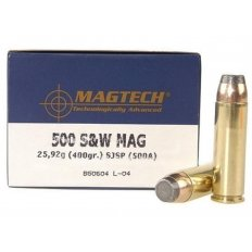 Magtech Sport .500 S&W Magnum 400 Gr. Semi-Jacketed Soft Point- Box of 20