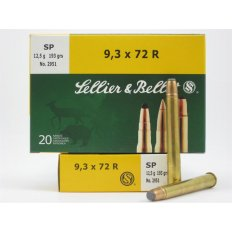 Sellier & Bellot 9.3x72R 193 Gr. Soft Point- Box of 20