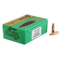 Sierra Bullets .22 Caliber (.224 Diameter) 69 Gr. MatchKing Hollow Point Boat Tail- Box of 100