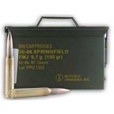 Prvi Partizan .30-06 150 Gr. FMJ for M1 Garand- Ammo Can of 500