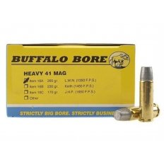Buffalo Bore .41 Remington Magnum 265 Gr. Lead Wide Long Nose- Box of 20