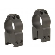 "Warne 1"" Maxima Permanent-Attachable Weaver-Style Scope Rings- Extra High Height .650""- Matte"