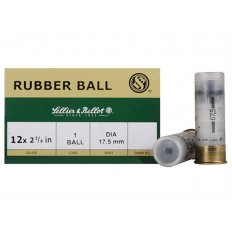"Sellier & Bellot 12 Gauge 2-5/8"" 17.5mm Rubber Slug- Box of 25"