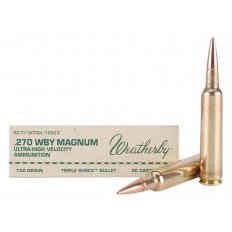 Weatherby .270 Weatherby Magnum 130 Gr. Barnes TSX Bullet Hollow Point- Lead-Free- Box of 20
