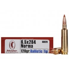 Nosler Trophy Grade 6.5mm-284 Norma 120 Gr. Ballistic Tip Hunting- Box of 20