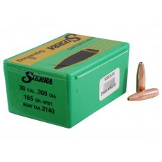 Sierra Bullets .30 Caliber (.308 Diameter) 165 Gr. GameKing Hollow Point Boat Tail- Box of 100