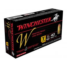 Winchester W Train Reduced Lead .40 S&W 180 Gr. Full Metal Jacket- Box of 50