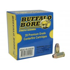 Buffalo Bore .45 ACP +P 230 Gr. Jacketed Hollow Point- Box of 20