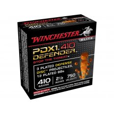 "Winchester Supreme Elite Self Defense .410 Bore 2-1/2"" 3 Disks over 1/4 oz BB Bonded PDX1- Box of 10"