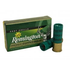 "Remington Premier 12 Gauge 2-3/4"" 1 oz Copper Solid Sabot Slug- Lead-Free- Box of 5"