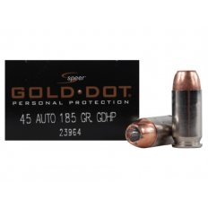 Speer Gold Dot .45 ACP 185 Gr. Jacketed Hollow Point 23964