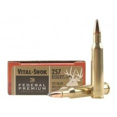 Federal Premium Vital-Shok .257 Roberts +P 120 Gr. Nosler Partition- Box of 20