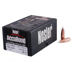 Nosler Bullets .30 Caliber (.308 Diameter) 150 Gr. AccuBond Bonded Spitzer Boat Tail- Box of 50