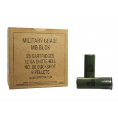 "Winchester Military Grade 12 Gauge 2-3/4"" Buffered 00 Buckshot 9 Pellets- Box of 25"