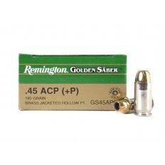 Remington Golden Saber .45 ACP +P 185 Gr. Brass Jacketed Hollow Point- Box of 25