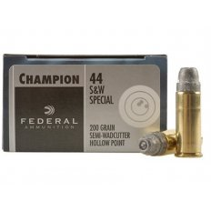 Federal Champion Target .44 Special 200 Gr. Lead Semi-Wadcutter Hollow Point C44SA
