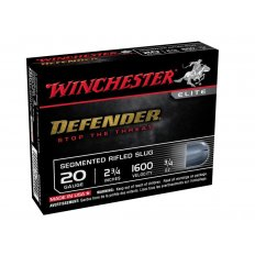 "Winchester PDX1 Defender 20 Gauge 2-3/4"" 3/4 oz Segmenting Slug- Box of 5"