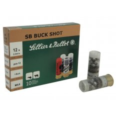 "Sellier & Bellot 12 Gauge 2-3/4"" #1 Buckshot 12 Pellets- Box of 25"