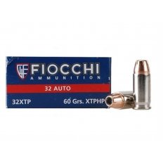 Fiocchi Extrema .32 ACP 60 Gr. Hornady XTP Jacketed Hollow Point- Box of 50