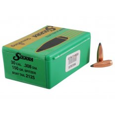 Sierra Bullets .30 Caliber (.308 Diameter) 150 Gr. GameKing Spitzer Boat Tail- Box of 100