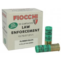 "Fiocchi Exacta 12 Gauge 2-3/4"" 00 Rubber Buckshot 15 Pellets- Box of 25"