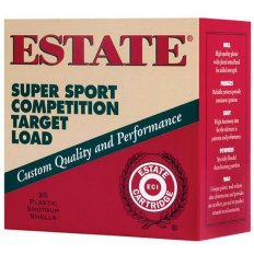 "Estate Super Sport Competition Target Load 12 Gauge 2-3/4"" 1 oz #7.5 Lead Shot- Box of 25"