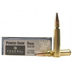 Federal Power-Shok 8x57mm Mauser (8mm Mauser) 170 Gr. Soft Point- Box of 20