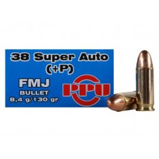 Prvi Partizan .38 Super +P 130 Gr. Full Metal Jacket- Box of 50