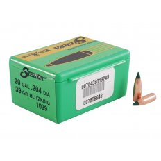 Sierra Bullets .20 Caliber (.204 Diameter) 39 Gr. BlitzKing Boat Tail- Box of 100