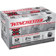 "Winchester Super-X 12 Gauge 2-3/4"" 1 oz Rifled Slug- Box of 15"