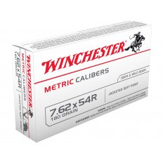 Winchester USA 7.62x54R 180 Gr. Jacketed Soft Point MC54RSP