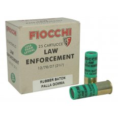 "Fiocchi Less Lethal 12 Gauge 2-3/4"" 4.8 Gram Rubber Baton Slug- Box of 25"