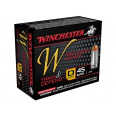 Winchester W Defend Reduced Recoil .45 ACP 230 Gr. Jacketed Hollow Point W45D