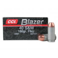 CCI Blazer .40 S&W 180 Gr. Full Metal Jacket- Box of 50