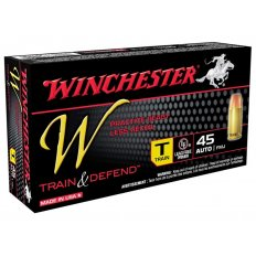Winchester W Train Reduced Recoil .45 ACP 230 Gr. Full Metal Jacket- Box of 50