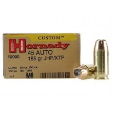 Hornady Custom .45 Auto 185 Gr. XTP Jacketed Hollow Point- Box of 20