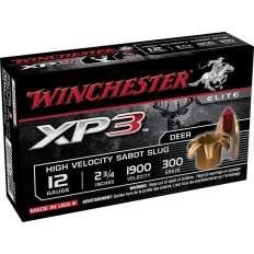 "Winchester 12 Gauge 2-3/4"" 300 Gr. XP3 Sabot Slug- Lead-Free- Box of 5"