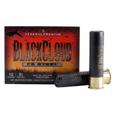 "Federal Premium Black Cloud Ammunition 12 Gauge 3-1/2"" 1-1/2 oz BB Non-Toxic FlightStopper Steel Shot- Box of 25"