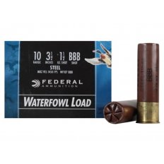 "Federal Speed-Shok Waterfowl 10 Gauge 3-1/2"" 1-1/2 oz BBB Non-Toxic Steel Shot- Box of 25"