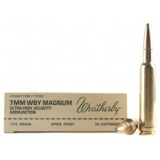 Weatherby 7mm Weatherby Magnum 175 Gr. Hornady Spire Point- Box of 20
