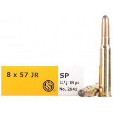 Sellier & Bellot 8mm Rimmed Mauser (8x57mm JR) 196 Gr. Semi-Jacketed Soft Point- Box of 20