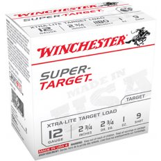 "Winchester Super-Target 12 Gauge 2-3/4"" 1 oz #9 Shot- Box of 25"
