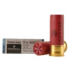 "Federal Power-Shok Low Recoil 12 Gauge 2-3/4"" Buffered 00 Buckshot 9 Pellets H132 00"