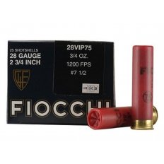 "Fiocchi Exacta Target 28 Gauge 2-3/4"" 3/4 oz #7-1/2 Shot- Box of 25"