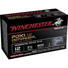 "Winchester Supreme Elite Self Defense 12 Gauge 2-3/4"" 1 oz PDX1 Segmenting Slug- Box of 10"