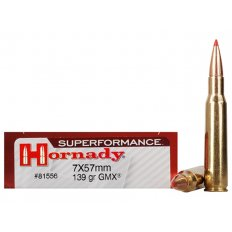 Hornady Superformance GMX 7x57mm Mauser (7mm Mauser) 139 Gr. GMX Boat Tail- Lead-Free 81556